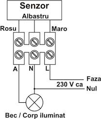 Senzor de miscare - schema 1